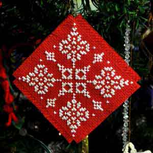 snowflake cross stitch christmas tree ornament - Cross Stitch Christmas Decorations