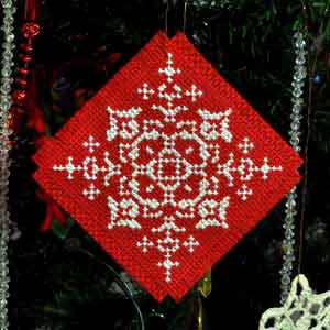 Make Counted Cross Stitch Christmas Tree Ornaments