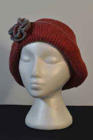 Crochet Rose Pattern On Hat