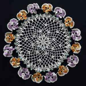 Pansy Doily - Free Crochet Doily Pattern - Antique Crochet